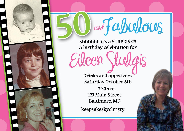 Custom Birthday Invitation 30th 40th 50th by keepsakesbychristy ...