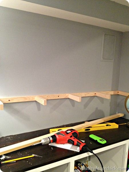 Make Floating Shelves Above Washer And Dryer This Is How
