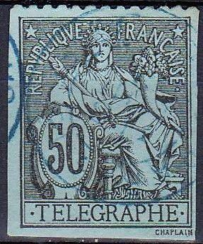 France Revenue Telegraph Stamp.