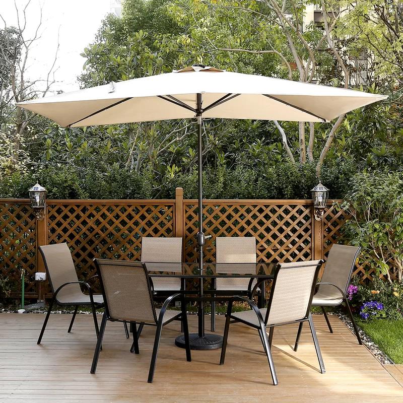 Harworth 10 X 6 5 Rectangular Market Umbrella In 2020 Outdoor Shade Patio Solar Umbrella