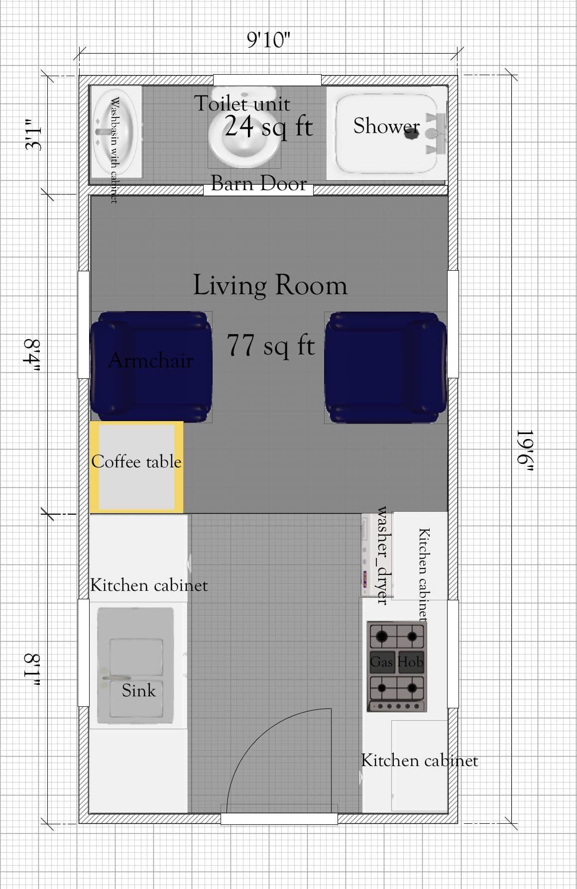 Tiny House Under 400 Sq Ft In 2020 Tiny House Floor Plans Tiny House Plans Free Small Kitchen Floor Plans