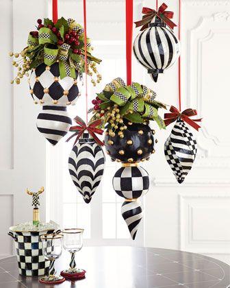 Mackenzie Childs Christmas Ornaments.Jumbo Capiz Christmas Ornaments By Mackenzie Childs At