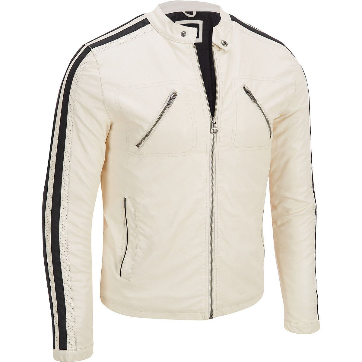 Men S Wilsons Leather Stripe Sleeve Faux Leather Jacket Gift Affiliate Products For Sale Leather Jacket Men Leather Jacket Brands High Quality Leather Jacket [ 1200 x 1200 Pixel ]