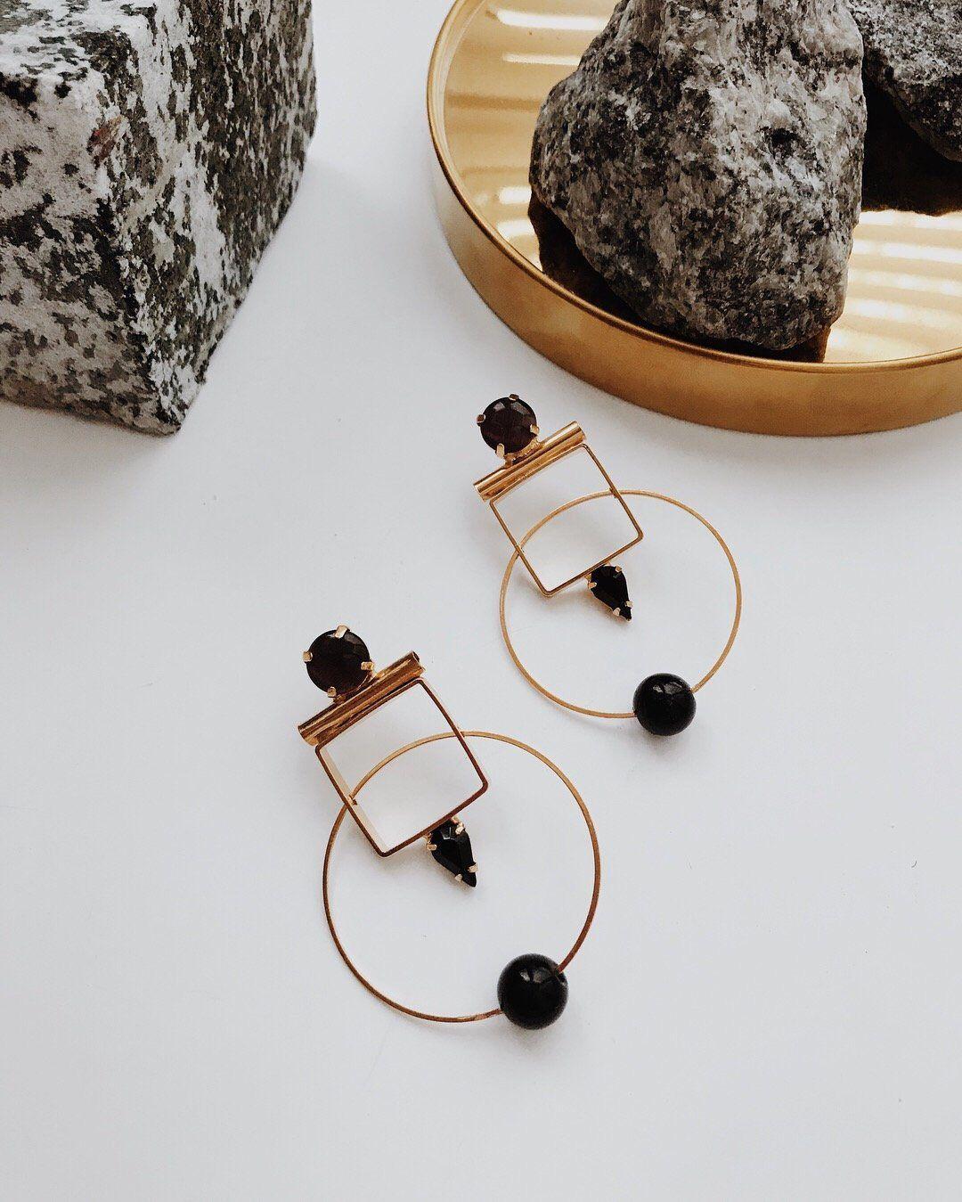 gift for her handmade art jewelry abstract jewelry african motives oval shape Geometric mosaic earrings asymmetric ornaments earrings