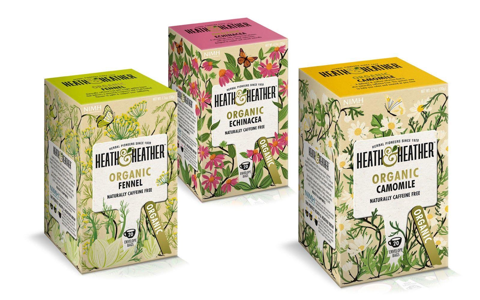 Heath Heather Tea Packaging Herbalism Herbal Tea