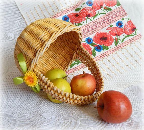 Wicker basket gift idea for children yellow basket paper small wicker basket gift idea for children yellow basket paper weaving table decor basket for kids woven basket easter basket negle Images