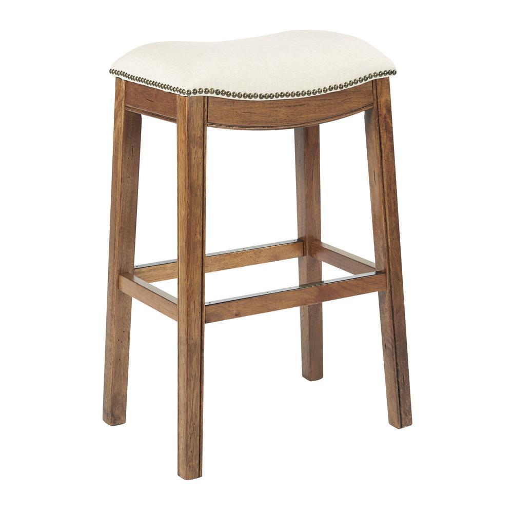 OSP Home Furnishings Austin 31.25 in Linen Bar stoolSB538