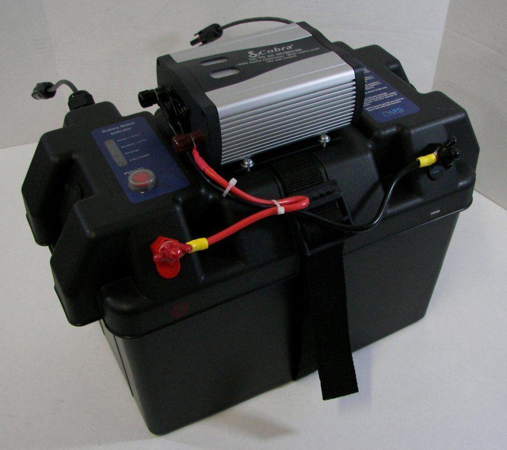 Rv solar power generator solar inverter battery box for Ice fishing battery box