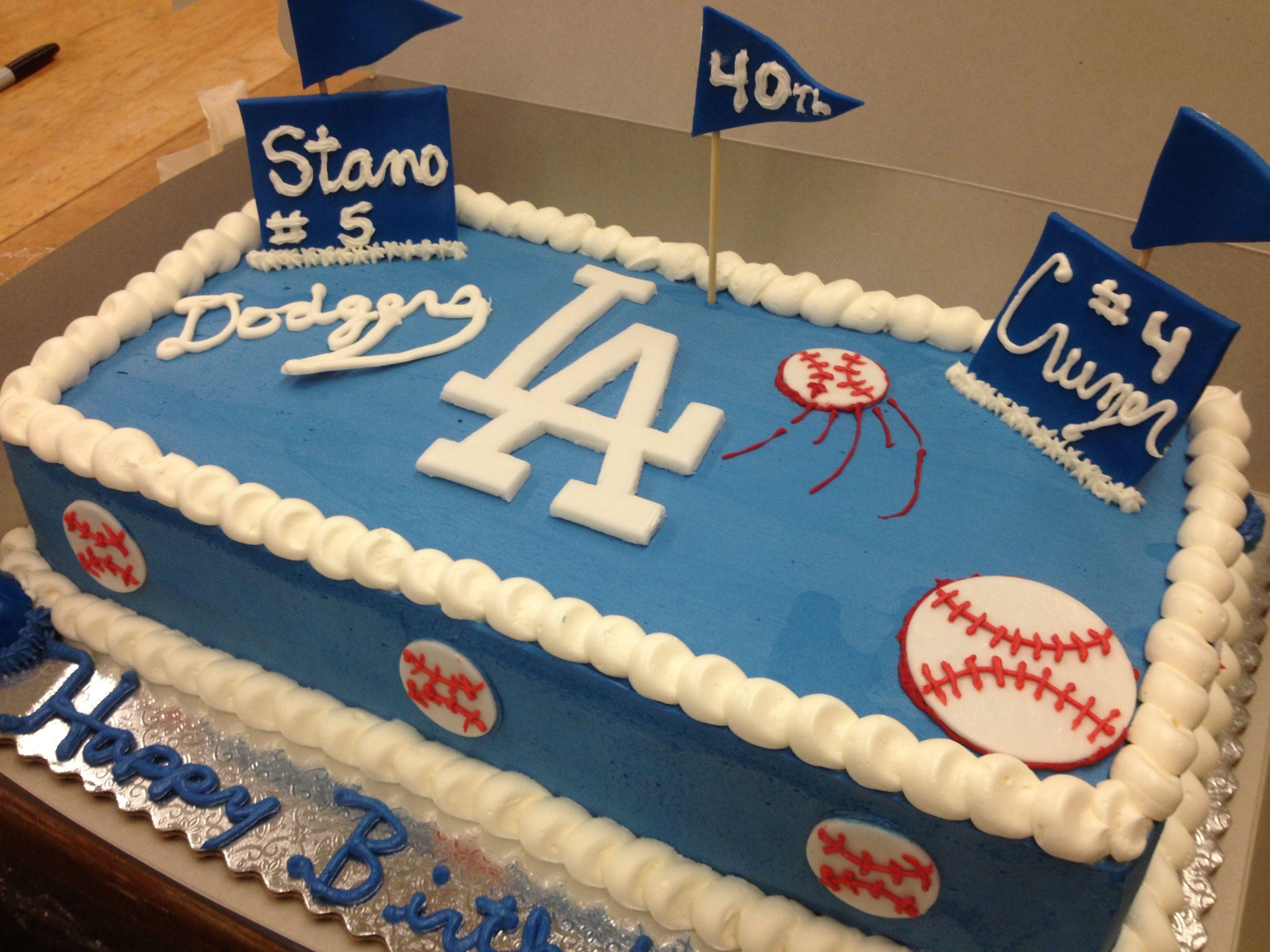 La Dodger Cake Desserts Baseball Birthday Cakes