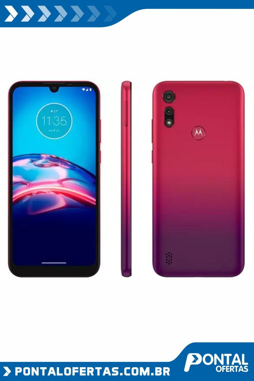 Smartphone Motorola E6s 32gb Vermelho Magenta 4g Octa Core 2gb Ram 6 1 Cam Dupla Selfie 5mp Smartphone Motorola Smartphone Celulares