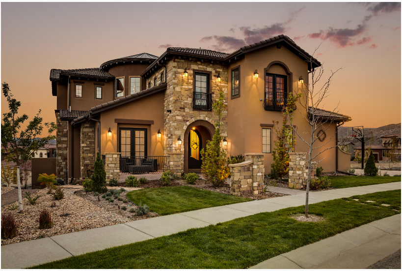 Beautiful Tuscan Style Home Exterior in 2019 Tuscan