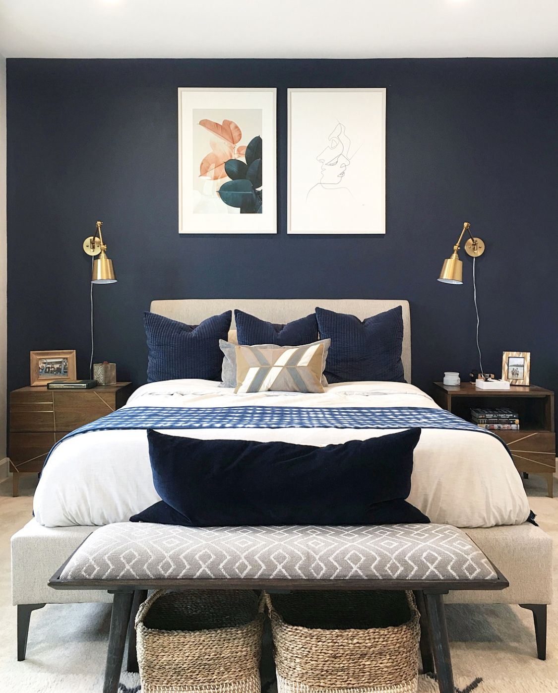 modern blue bedroom talbert 2 drawer nightstand your designs livingspaces in 2019 stylish bedroom luxurious 8333