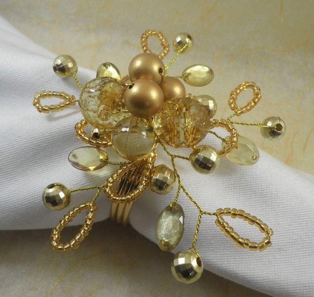acrylic beaded wedding napkin ring crystal napkin holder wholesale decoration ring Review #napkinrings