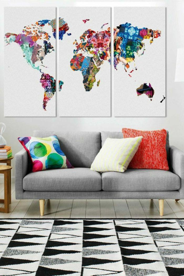 design d 39 int rieur styl avec le tableau triptyque deco pinterest tableau. Black Bedroom Furniture Sets. Home Design Ideas