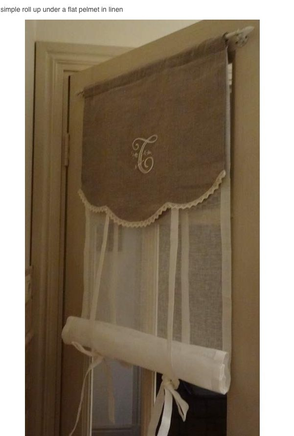 Good A Great Idea For All Your French Doors. You Could Use It On Your Kitchen  Backdoor. Simple Roll Up Under A Flat Valance In Linen. Perfect Idea For  Back Door.