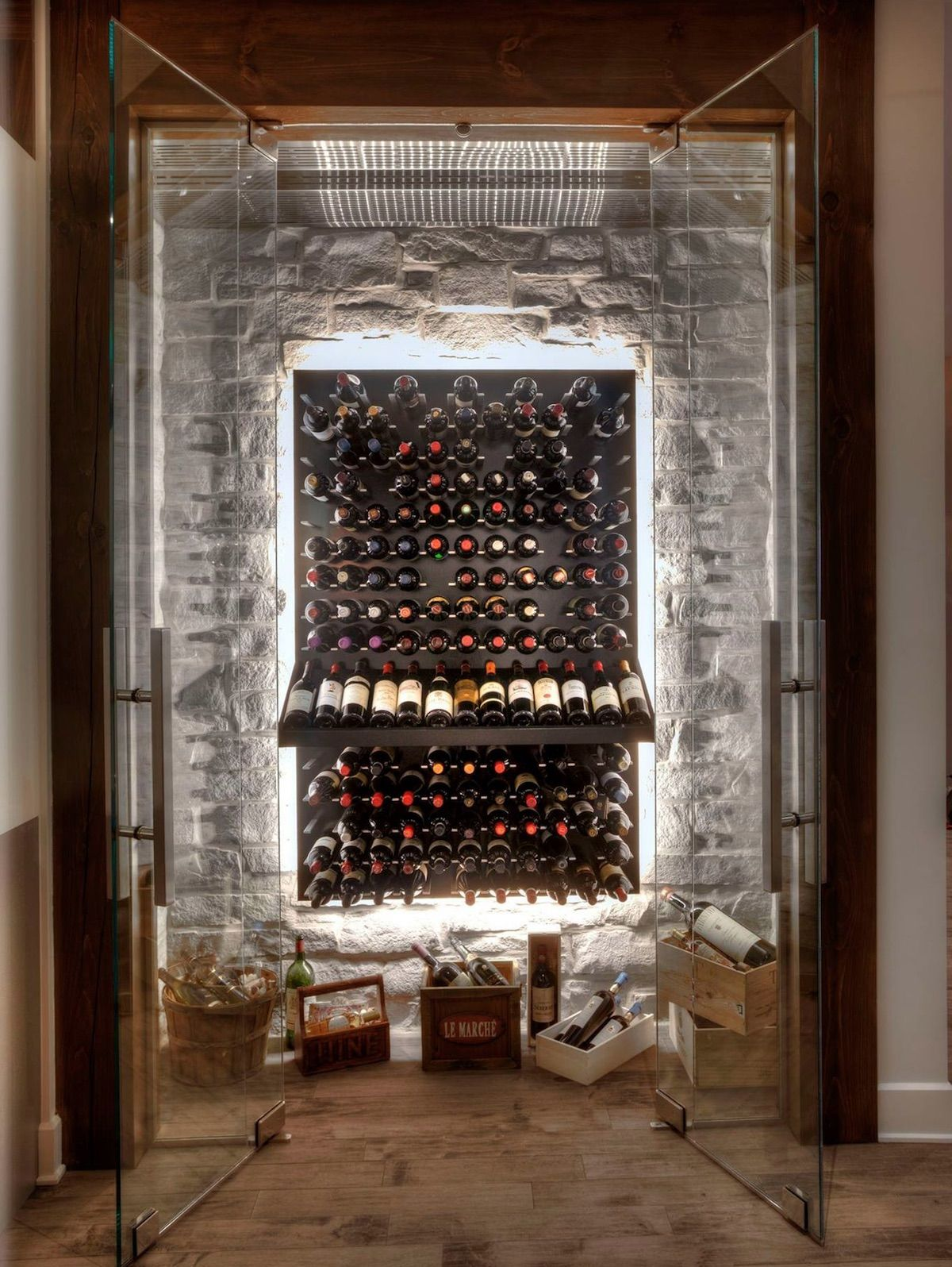 Wine Wall Display Racks Glass Enclosed Wine Cellars And Commercial Wine Displays