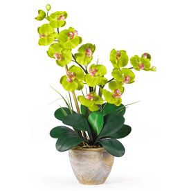 Nearly Natural 25-In Green Silk Arrangement 1026-Gr