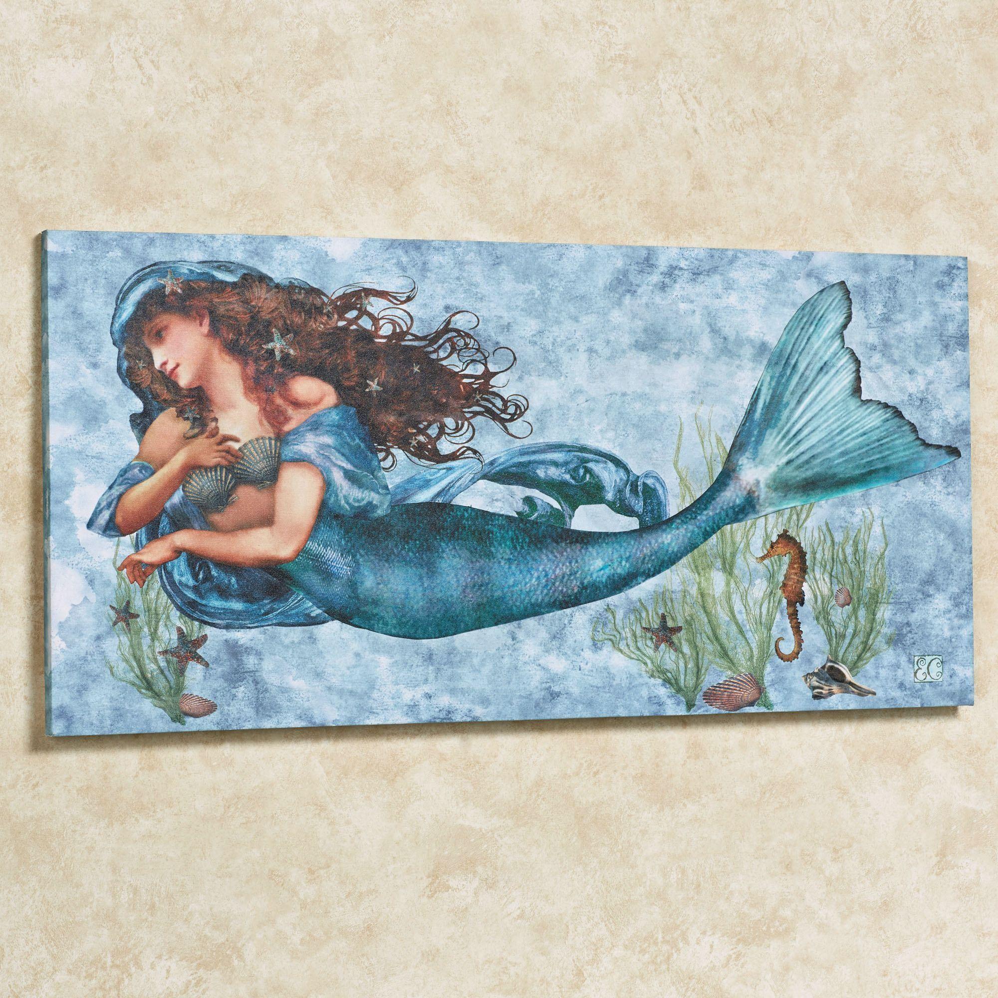 Under the sea mermaid canvas wall art