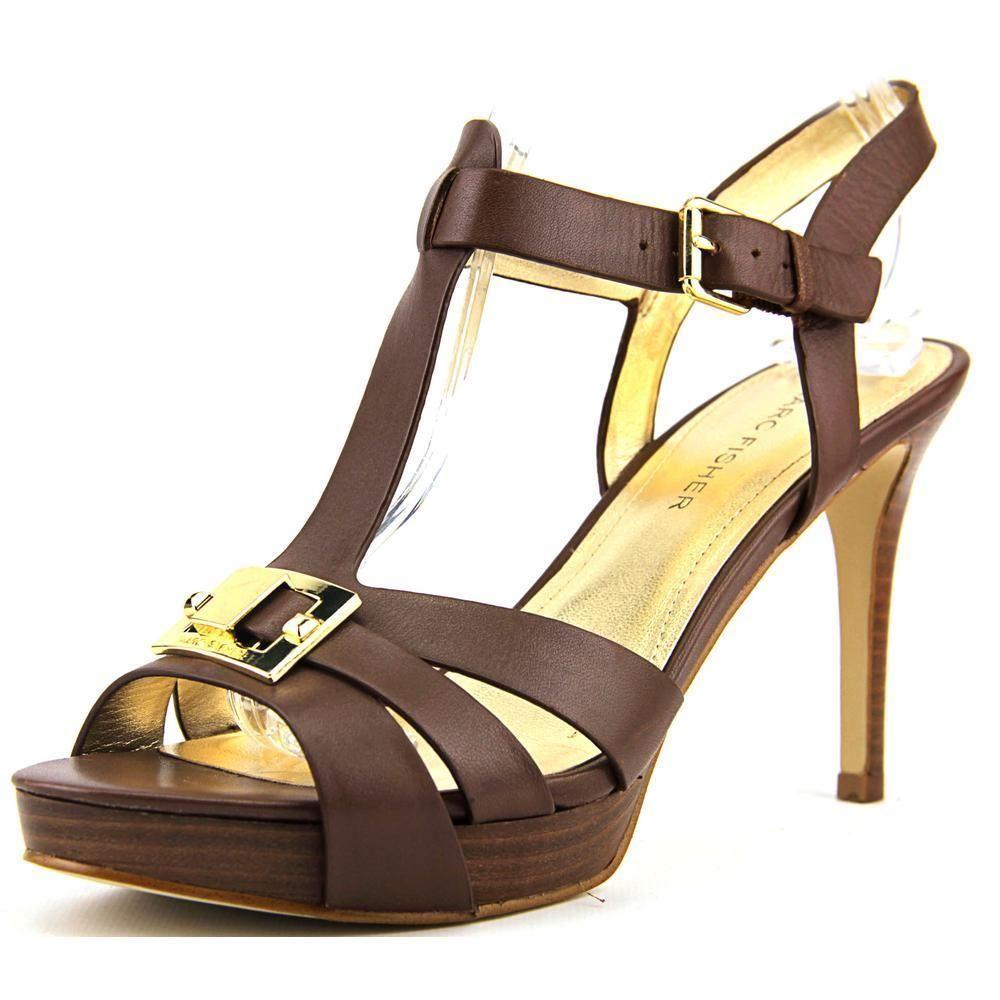 71ec13b308d Marc Fisher Women's Varika 2 Brown Leather Sandals | SHOE love ...