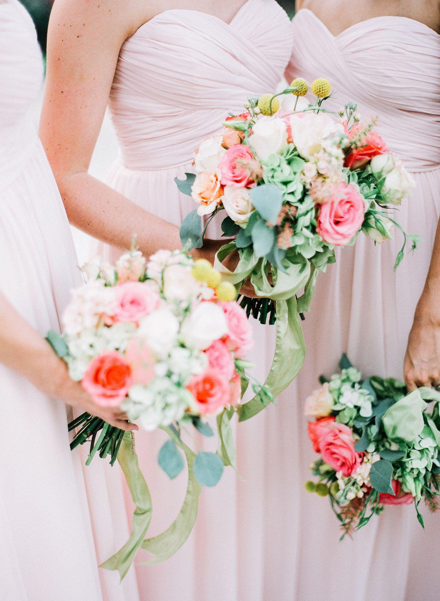 Bridesmaid bouquets pink bridesmaid dresses flowers by susan bridesmaid bouquets pink bridesmaid dresses flowers by susan huff beth jordan birmingham dhlflorist Choice Image