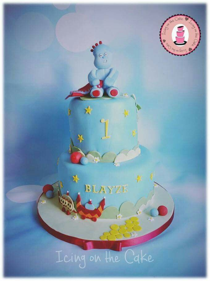 Iggle piggle, in the night garden cake with fondant iggle ...
