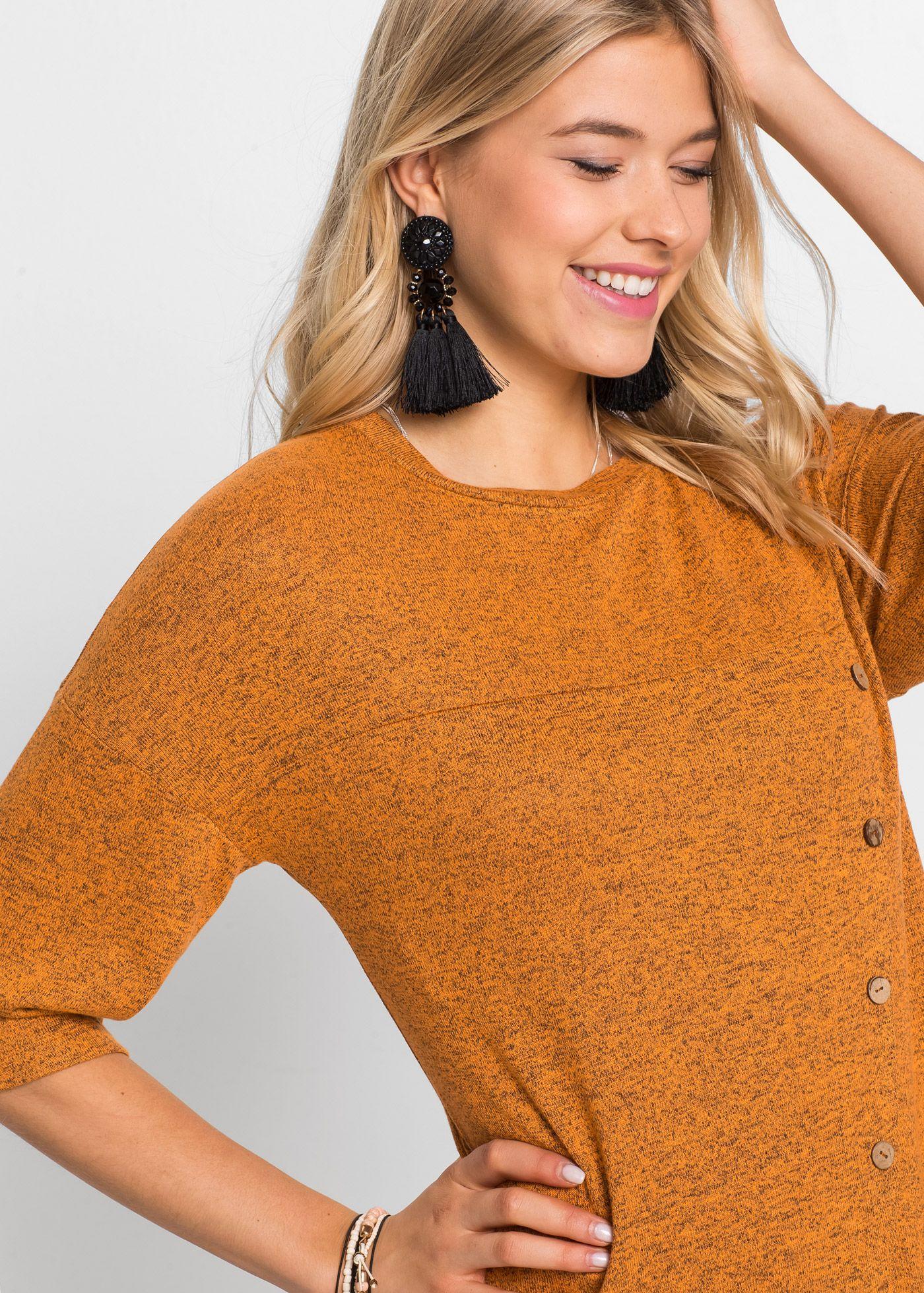 Shirtkleid mit Knopfleiste gelb - RAINBOW online bestellen  Kurze