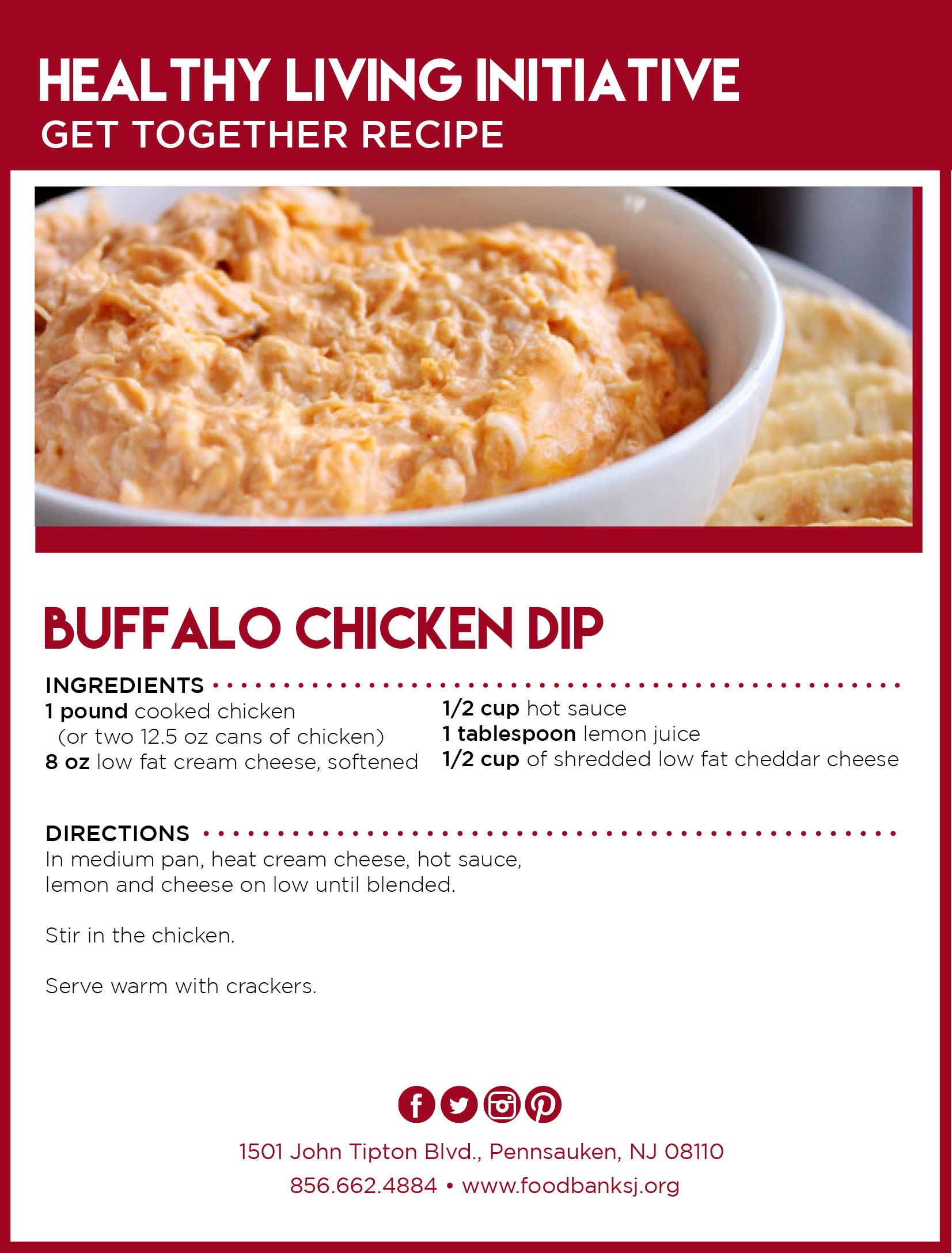 Easy buffalo chicken dip for your next party visit
