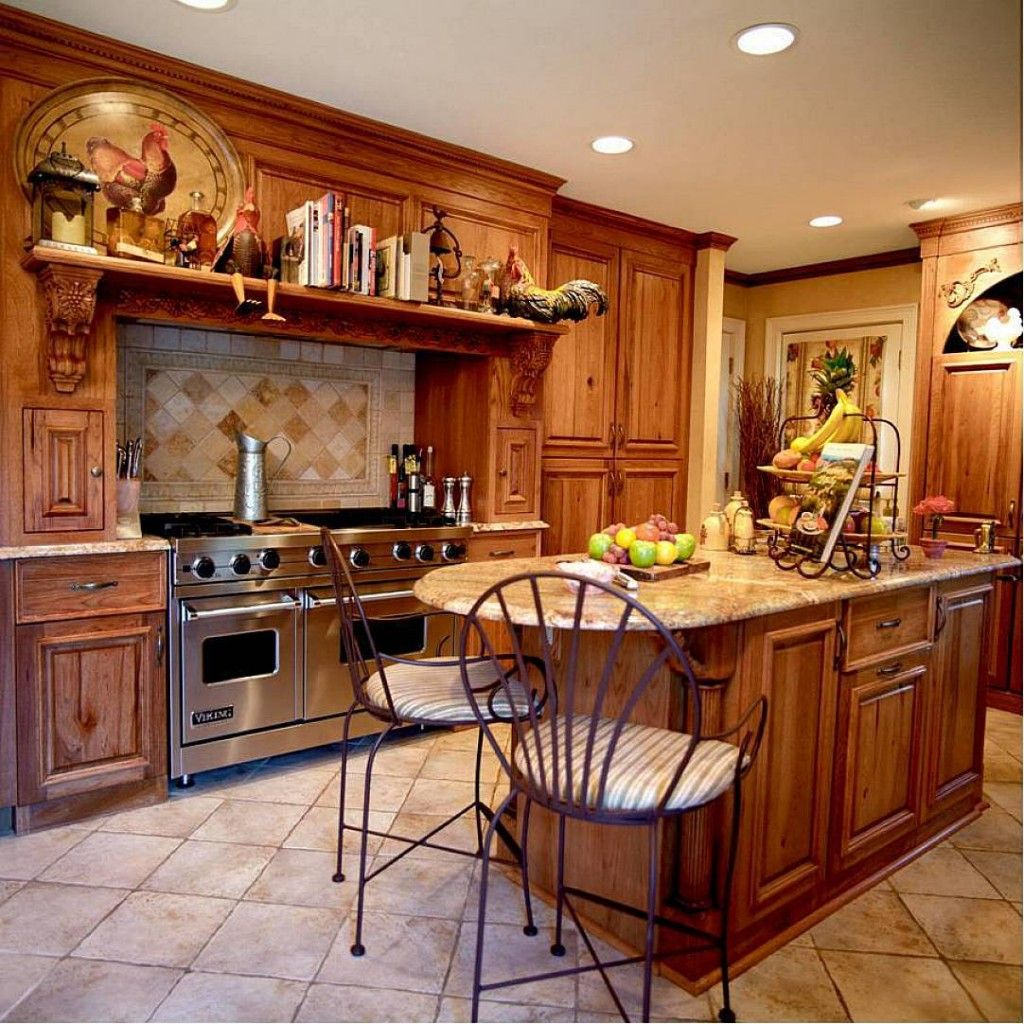 Kitchen Decorating Themes | Country Style Kitchen Interior Design ...