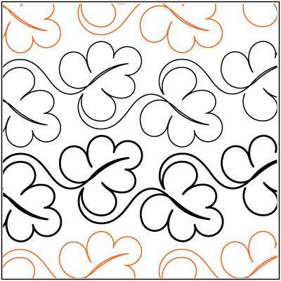 Abundant Leaves Quilting Pantograph Pattern By Lorien
