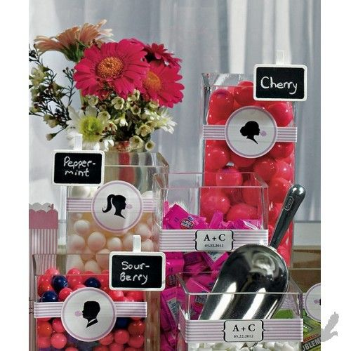 Candy Buffet Signs from Koyal Wholesale $13.98  Candy Buffet Signs - Miniature Rectangular Wooden Black Board Clip with White Wash Finish (Bulk 24 Signs) BEST SELLER!    www.hawaiianweddings.net