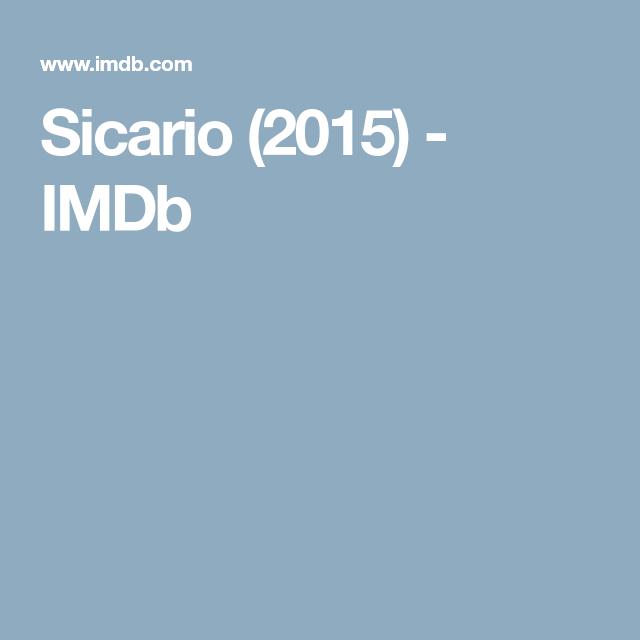 Imdb Sicario