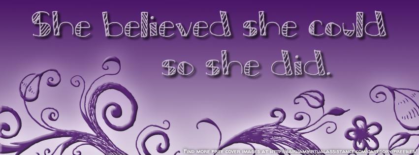 She Believed She Could So She Did [Freebie