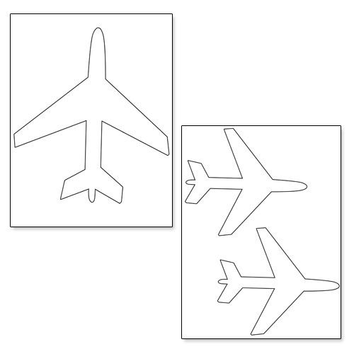 printable airplane shapes from shapes and templates printables pinterest. Black Bedroom Furniture Sets. Home Design Ideas
