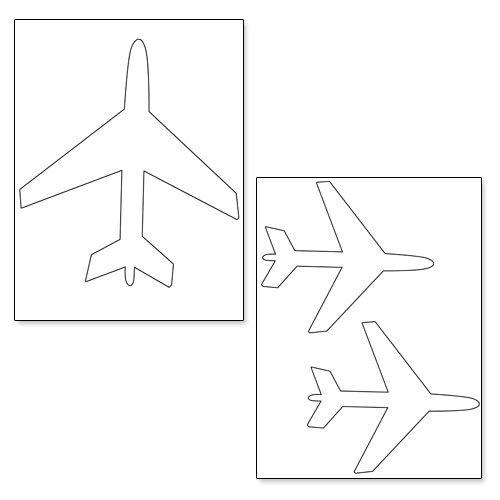 Printable Airplane Shapes Planes Birthday Party Paper Airplane Template Planes Birthday