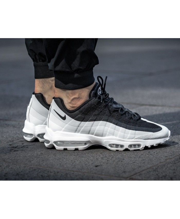 quality design ee793 10f77 Nike Air Max 95 Ultra Essential Black White Trainers