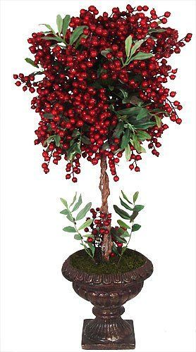 How To Make Christmas Topiary Trees Chic 28 Quot Vibrant Red Holiday Berry Potted Christmas