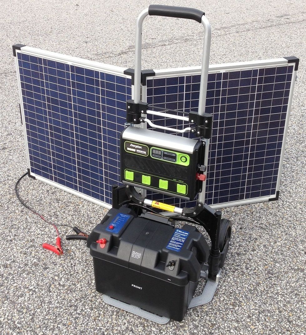 1000w Portable Solar Electric Generator Power Backup System W 120w Panels Portable Solar Generator Solar Electric Power Backup
