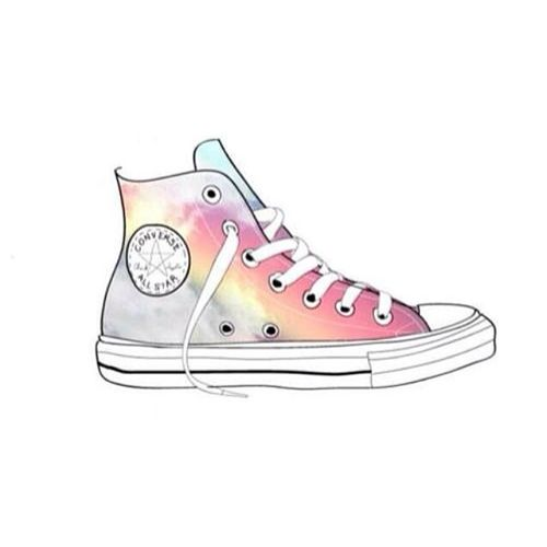 converse shoes grey with pink stars aesthetic gif tumblr