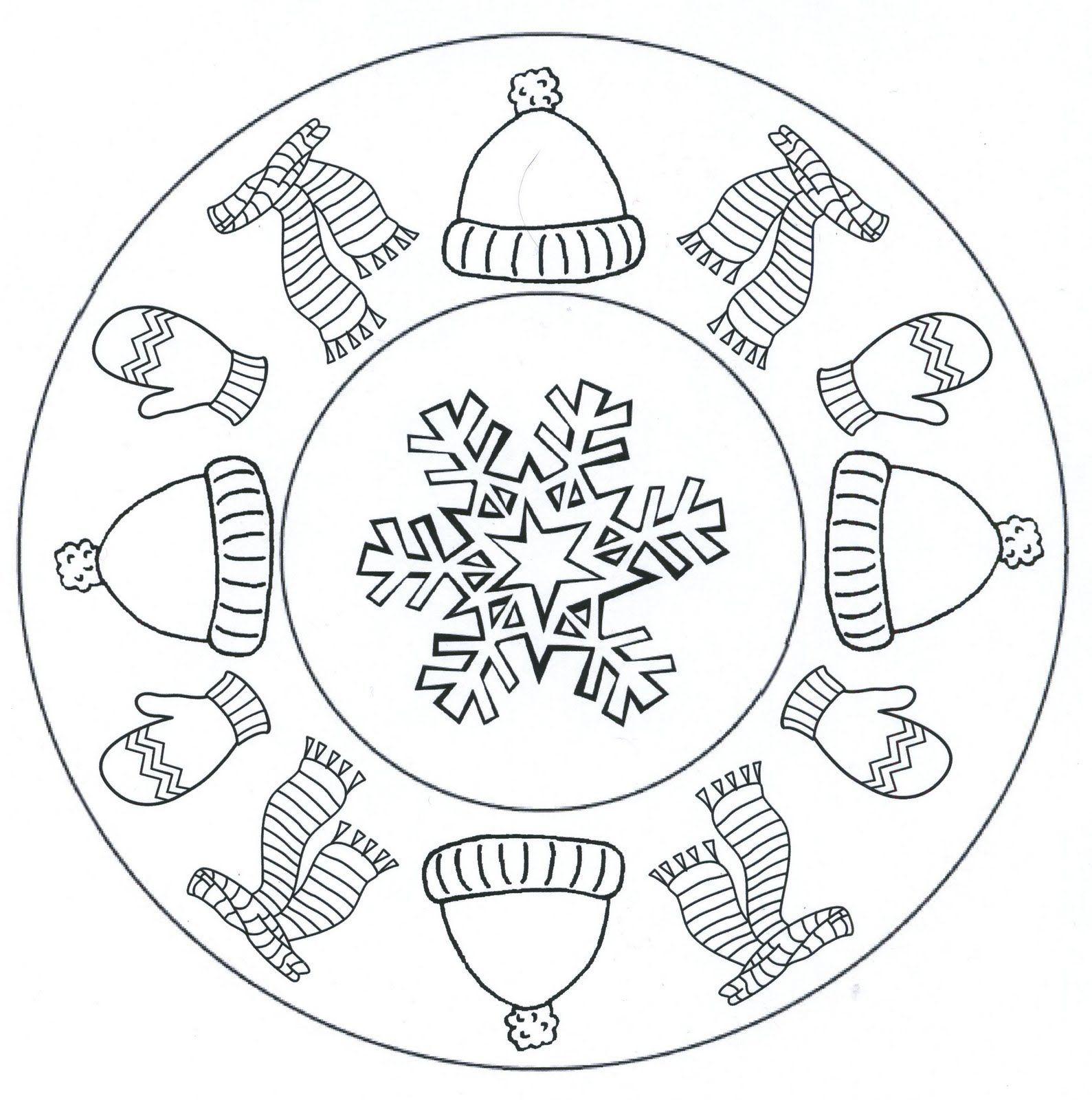 mandala winter hiver pinterest ausmalbilder. Black Bedroom Furniture Sets. Home Design Ideas