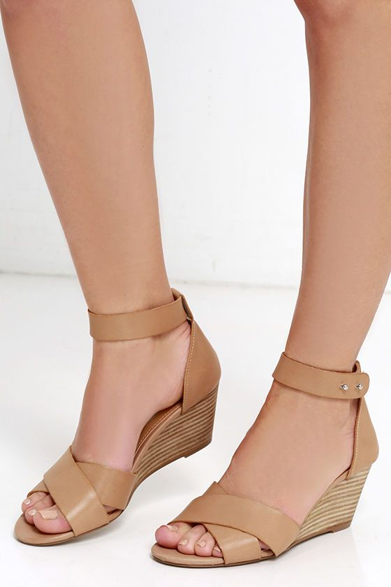 los angeles low cost hot products Steve Madden Nilla Bone Leather Wedge Sandals | Shoes in ...