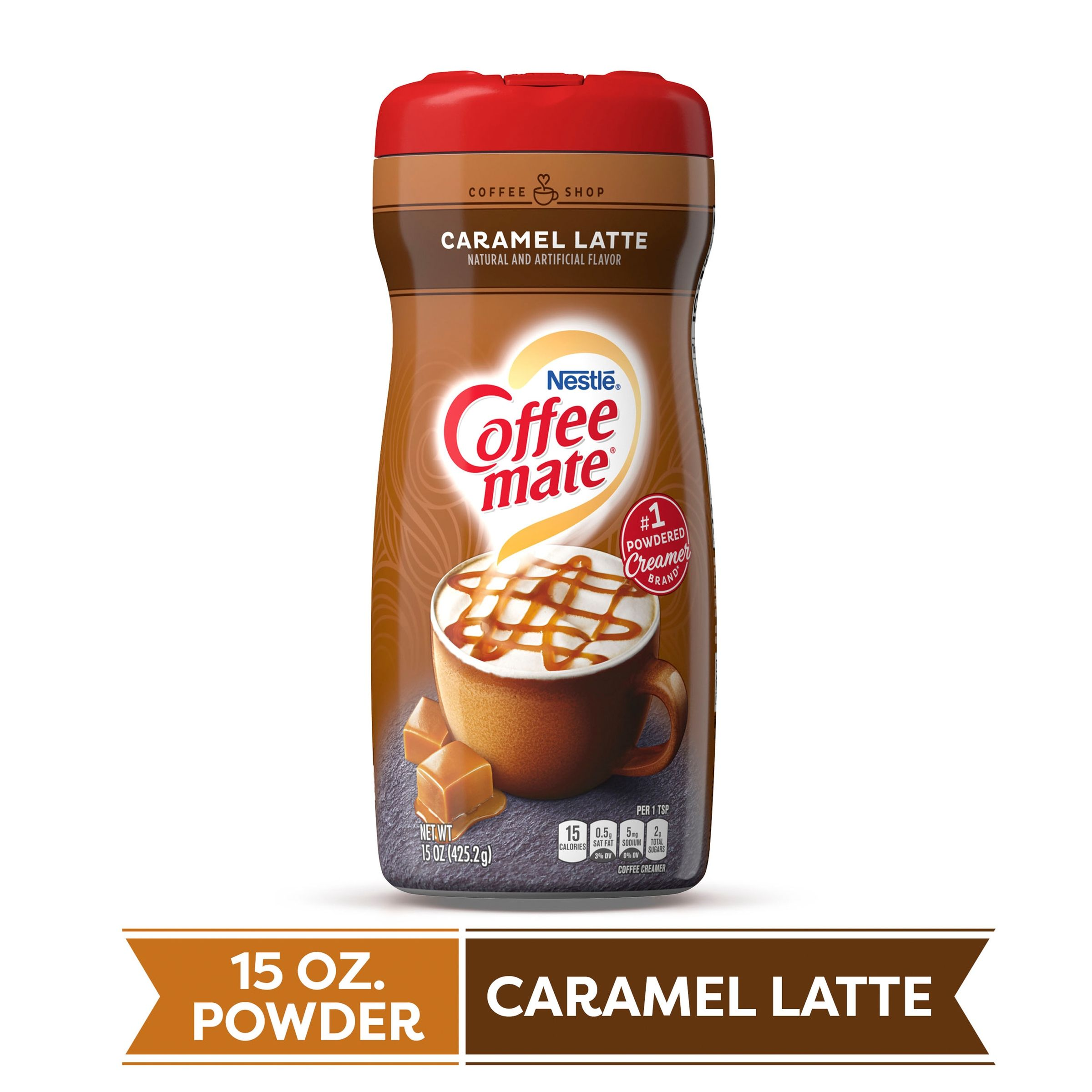 COFFEE MATE Caramel Latte Powder Coffee Creamer 15 Oz