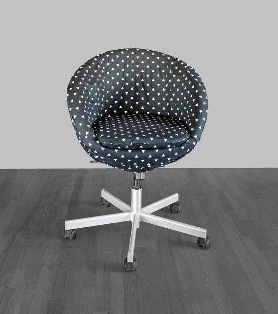 Remarkable Black Triangle Print Ikea Skruvsta Chair Slip Cover Ikea Machost Co Dining Chair Design Ideas Machostcouk