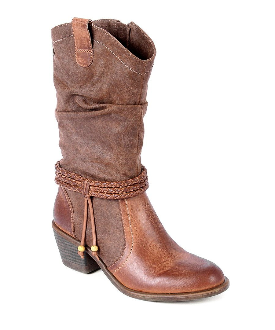 Caramel western ankle tassel boots by Maria Mare on secretsales.com