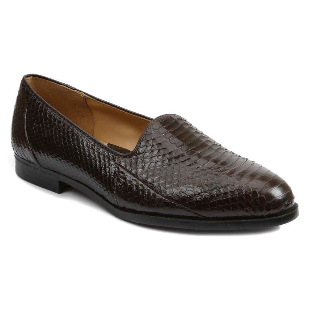 Giorgio Brutini Men's Faulkner Classic Plain Toe Loafer Shoes Brown 15063