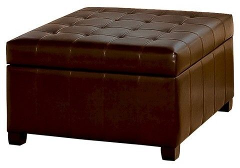 Groovy Alexandria Bonded Leather Storage Ottoman Brown Onthecornerstone Fun Painted Chair Ideas Images Onthecornerstoneorg