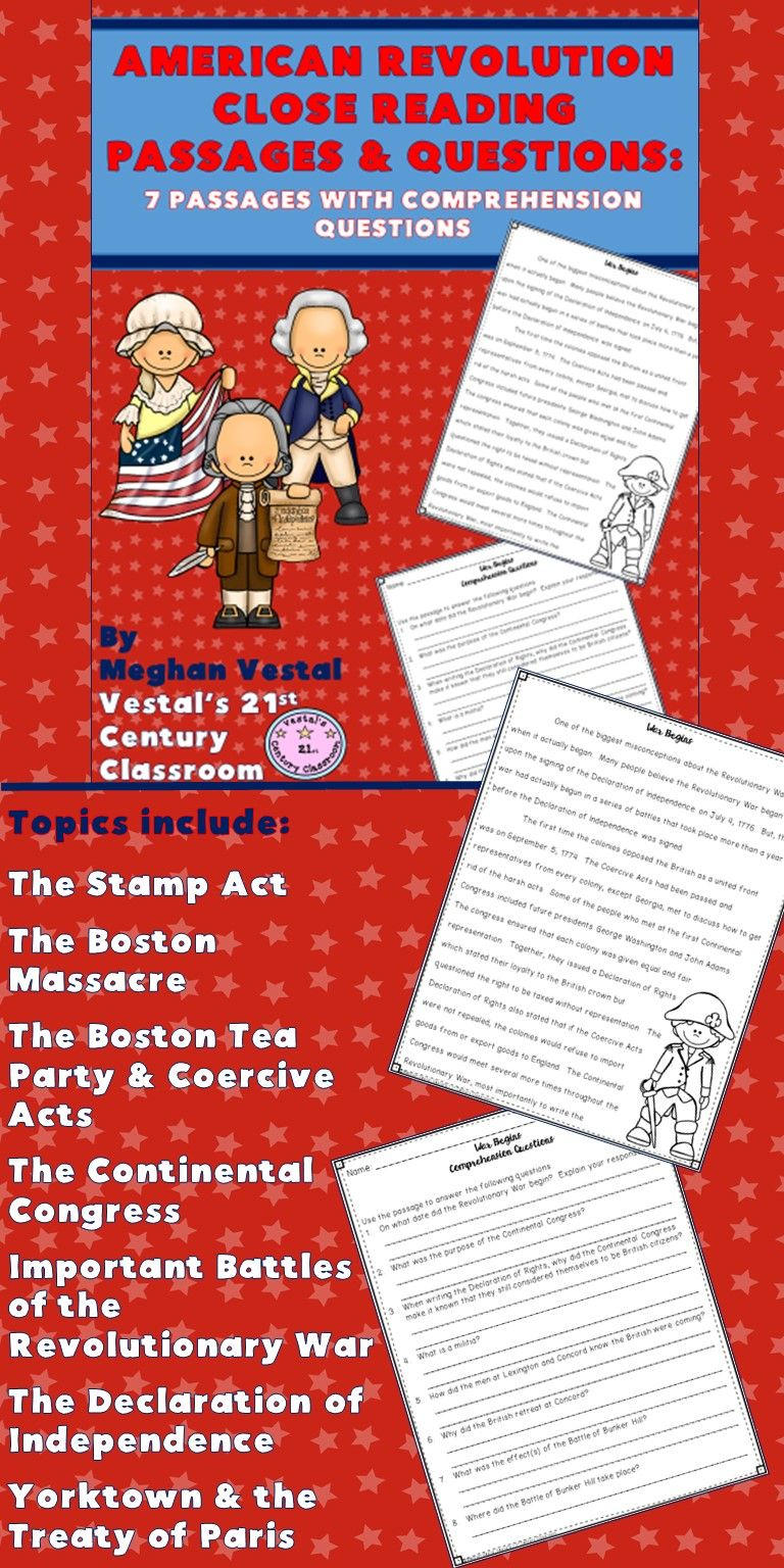 Predownload: American Revolution Close Reading Passages Questions Is A Great Way To Integrate Conce Close Reading Passages Social Studies Middle School Reading Passages [ 1536 x 768 Pixel ]