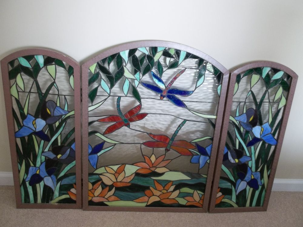 Stained Glass Fire Place Screen Stained Glass Fireplace Screen
