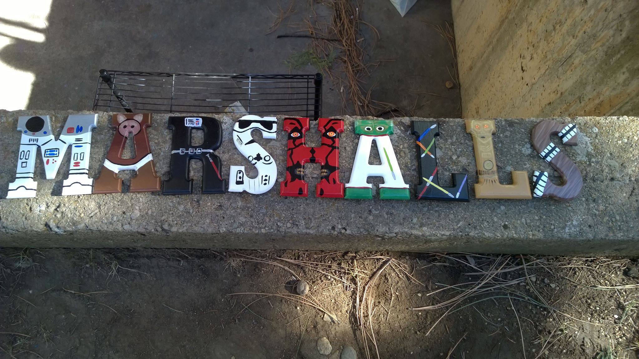 Star Wars Themed Painted Wooden Letters Craft Ideas