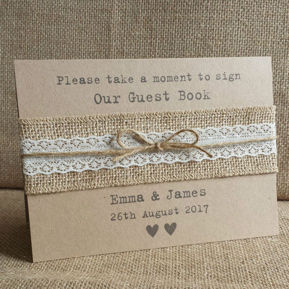Personalised Sign our Wedding Guest Book Sign- Vintage Style With ...