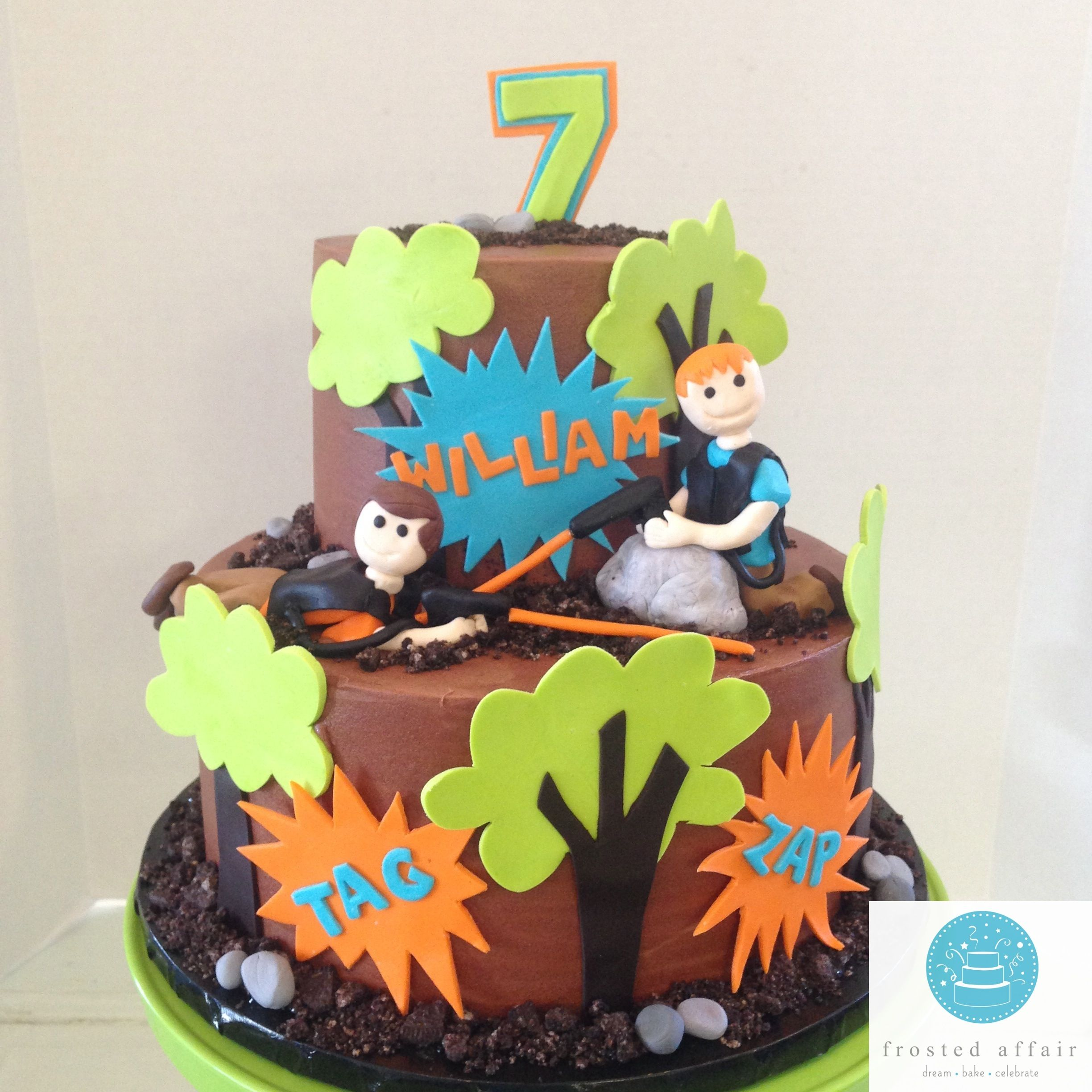 Buttercream cake made for an outdoor laser tag party Boy Cakes